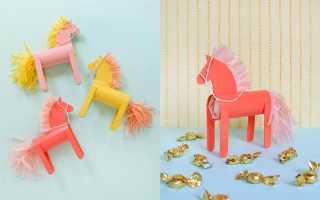 Как сделать лошадь из картона