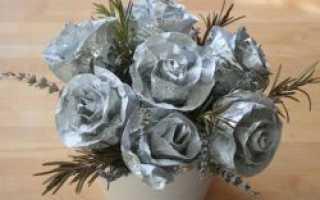 Как сделать розу из фольги