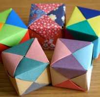 Как сделать куб без клея из бумаги