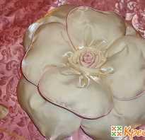 Как сделать подушку роза своими руками