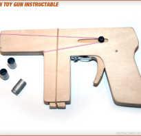 Как сделать пистолет с глушителем из дерева