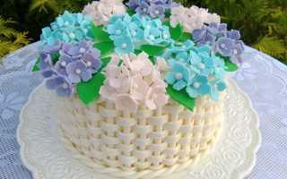 Как сделать торт корзинку