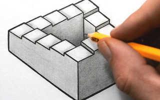 Лестница пенроуза в реальности как сделать чертежи