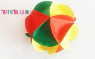 Как сделать шар из картона