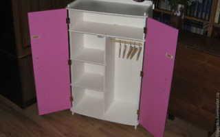 Как сделать шкаф для кукол из коробки