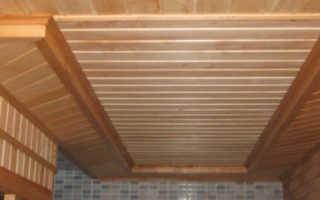 Как сделать потолок в бане видео