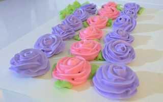 Как сделать цветы из крема
