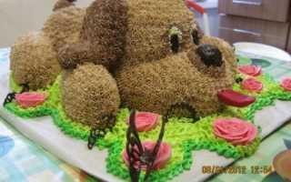Как сделать торт собачку