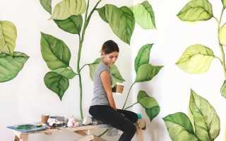 Как сделать рисунок на стене