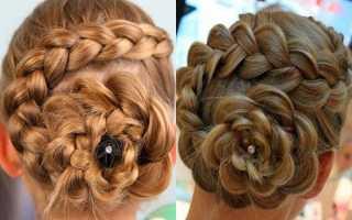 Как сделать прическу розу из волос