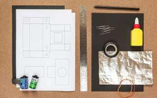 Как сделать фотоаппарат из картона