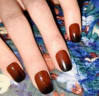 Как сделать переход на ногтях