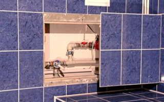 Как сделать люк в ванной из плитки