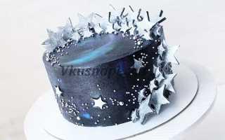 Как сделать космический торт из крема