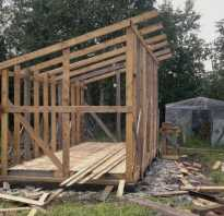 Как сделать крышу на сарае