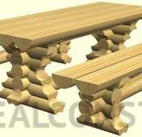 Как сделать стол из бревен