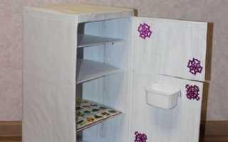 Как сделать холодильник из коробки своими руками