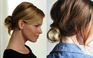 Как сделать пучок на короткие волосы
