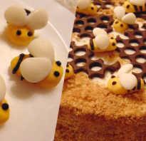Как сделать пчелку на торт медовик