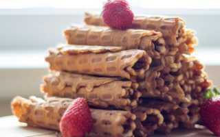 Как сделать тесто для вафельных трубочек