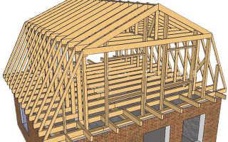 Как сделать мансардную крышу дома