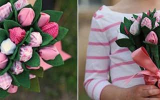 Как сделать цветы из бумаги с конфетами