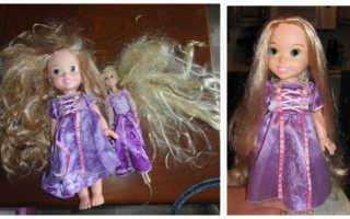 Как сделать кукле мягкие волосы
