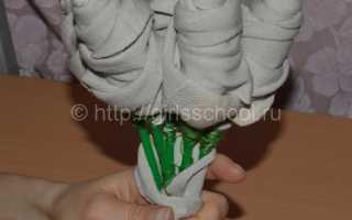 Как сделать цветы из носков