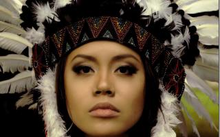 Как сделать маску индейца