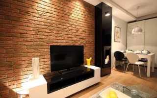 Как сделать кирпичную стену в квартире