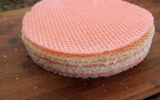 Как сделать торт из вафельных коржей