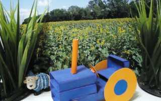 Как сделать трактор из картона